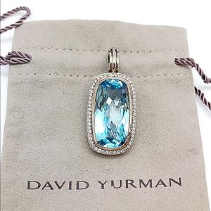 Yurman Diamond Blue Topaz Enhancer Sterling 18k